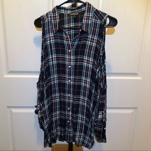 EXPRESS Cold Shoulder Long-sleeve Tunic